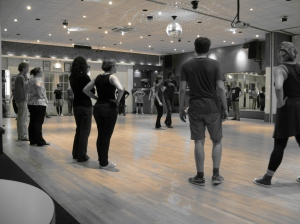 Everybody listens carefully to the Lindy Hop wisdom.